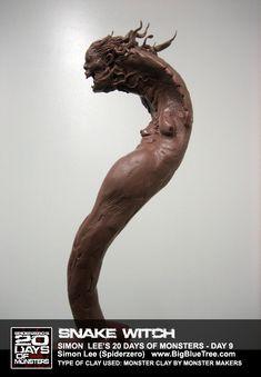 The Art of Simon Lee - Spiderzero - Concept Artist, Creature Designer, Sculptor, teacher Forest Creatures, Fantasy Creatures, Creature Feature, Creature Design, Simon Lee, Creature Concept Art, Pacific Rim, Horror Art, Sculpture Art