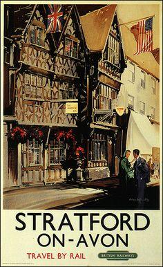 Stratford-on-Avon railway poster