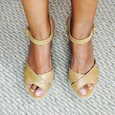 BCBG wedge camel sandals Size 8 excellent condition ankle strap tan wedge sandals BCBGeneration Shoes Wedges
