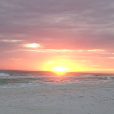 Destin, FL - sunset on the beach, where he proposed! This will now always be one of my favorite places. ;)