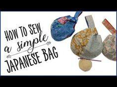 How To Sew A Simple Japanese Bag - YouTube