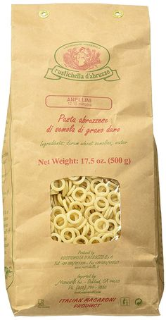 Rustichella D' Abruzzo Anellini Pasta Rings 17 Oz. Package ** Continue to the product at the image link.