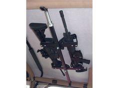 RedRock 4x4 Quick-Draw Overhead Gun Rack for Tactical Weapons (87-17 Wrangler YJ, TJ & JK)