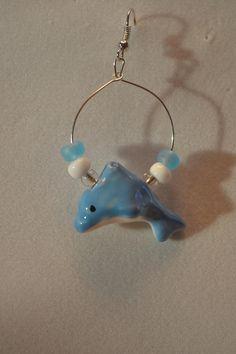 Blue Dolphin Earrings by SKDesignsCo on Etsy