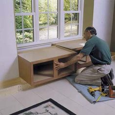 DIY built in window seat...for the kitchen :)