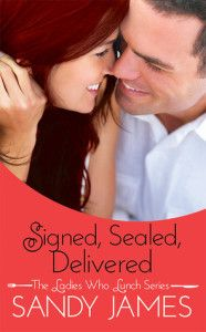 Signed Sealed Delivered by Sandy James: http://www.thereadingcafe.com/the-bottom-line-by-sandy-james-review-interview-and-giveaway/