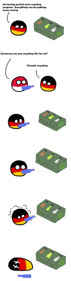 """Recycling"" ( Germany ) by EnergeticBanana #polandball #countryball #flagball"