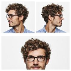 Men's curly hair, men's wavy hair