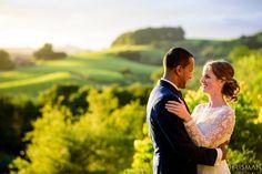 Wedding portraits | Bride and bridegroom | Sunset wedding portrait | Chrisman Studios wedding photography