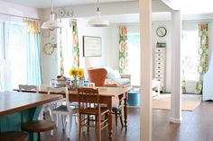 Flower Patch Farmgirl: Dining room and Living room