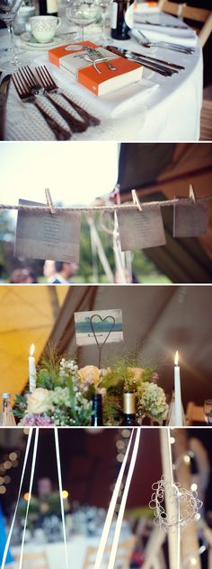Love this rustic English wedding...the Wuthering Heights favor is brilliant.