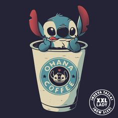 Ohana Coffee is sold by Pampling for plus shipping. Day of the Shirt collects daily and weekly t-shirt sales from across the Internet and aggregates them all in one place. Cute Animal Drawings Kawaii, Cute Disney Drawings, Cute Cartoon Drawings, Disney Phone Wallpaper, Cartoon Wallpaper Iphone, Cute Cartoon Wallpapers, Animal Wallpaper, Cute Stitch, Pinturas Disney