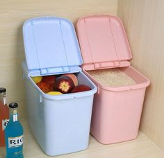 Large Candy Colored Kitchen Preservative Storage Food Container, etc. Pink or Blue
