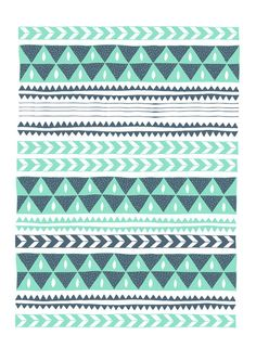 Love the pyramid and chevron print. Winter Stripe No. 1 by Alice Rebecca Potter iPhone case diy cover case Tribal Patterns, Pretty Patterns, Tribal Prints, Tribal Designs, African Patterns, Geometric Prints, Geometric Designs, Ipod Cases, Cute Phone Cases