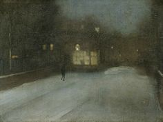 James Abbott McNeill Whistler, Nocturne in Black and Gold: The Falling Rocket Detroit Institute of Arts. James Abbott McNeill Whistler, Nocturne in Grey and Gold: Chelsea Snow Harvard. James Abbott Mcneill Whistler, Nocturne, Chelsea James, Snow Artist, Harvard Art Museum, Expositions, Caravaggio, Art Abstrait, Art For Art Sake