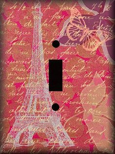 #Paris inspired light switch plate