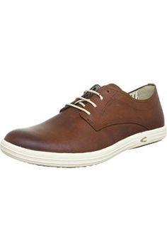 camel active Pier 22 - Zapatos con cordones de cuero hombre, color marrón, talla 40