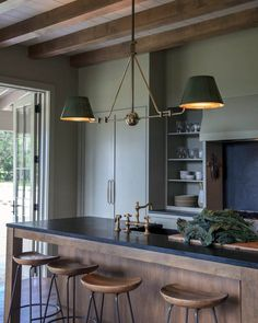 Rustic Cabinets For Your Antique Kitchen – Antique Kitchen Ideas Olive Green Kitchen, Earthy Kitchen, Rustic Kitchen Design, Home Decor Kitchen, Kitchen Ideas, Maple Kitchen, Rustic Kitchens, Kitchen Updates, Antique Kitchen Cabinets
