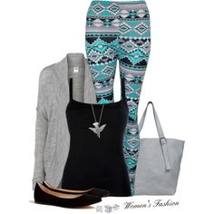 Tribal pattern leggings, longer top pls