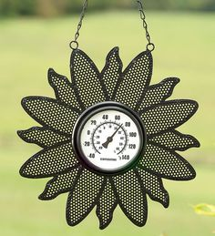 Flower Hanging Thermometer