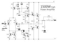 Power amplifier circuit is very nice used for subwoofer applications with powerful bass tones. Power is quite high power amplifier, power power issued about 500 Watt Electronic Circuit Design, Electronic Engineering, Class D Amplifier, Stereo Amplifier, Electronics Projects, Electronics Storage, Electronics Accessories, Electronics Gadgets, Electrical Projects