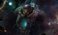 Azathoth Limited Edition Lithograph Art Print by TentaclesAndTeeth