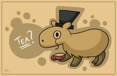 Cappy the Capybara by ~thepandalion