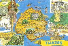 Map of Thasos