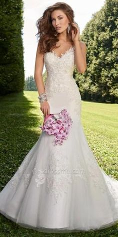 Sweetheart Lace Applique Wedding Dress By Camille La Vie  #dress #weddingdress #bridal #camillelavie #edressme