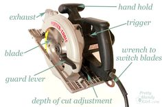 How to use a circular saw. (This is a mom's blog, so it is a mere coincidence that she talks about her son's arm being broken just before the tutorial......)