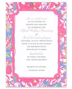 Lucky Charms Invitation For Party Adult Birthday By Lilly Pulitzer