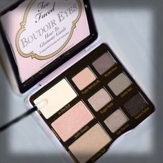 ? check_but they seem all too pearly__NEW from Too Faced: This collection of eye shadows offers boudoir-worthy colors including 5 new shades (just for this palette) for a total of 9 soft and sexy colors. ❤