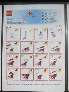 LEGO SG50 Limited Edition Singapore Icons Mini Build - Dragon Playground - Instructions - 2 of 3