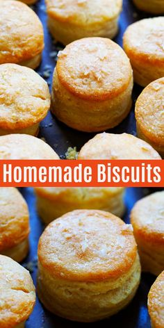 Biscuits - the best homemade biscuits recipe with high, buttery, flaky and crumbly layers. Easy step-by-step recipe with three ingredients only, without baking powder. How To Make Biscuits, Biscuits And Gravy, Baking Biscuits, Homemade Biscuits Recipe, Homemade Breads, Best Biscuit Recipe, Southern Buttermilk Biscuits, Other Recipes, Malaysia