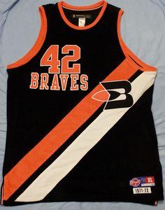 d43d6ec4e978a7 Reebok Elton Brand Buffalo Braves Basketball Jersey Hardwood Classics  42  Sz XL  Reebok