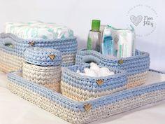 💕Penye ip fikri olsun bu bebek odası takımı da bu ara pek öremediğim i… EnPenye rope get the idea of ​​this baby room team can not learn much at this time I'm giving plenty of ideas and knit and share with me, but 🙈… Crochet Box, Crochet Basket Pattern, Knit Basket, Crochet Gifts, Knit Crochet, Crochet Patterns, Puch Maxi, Confection Au Crochet, Home Decor Baskets