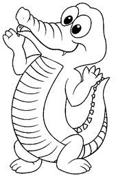Crocodile Coloring Pages: Here is a collection of crocodile coloring pages to print in their realistic and cartoon forms. Make your world more colorful with free printable coloring pages from italks. Our free coloring pages for adults and kids. Zoo Animal Coloring Pages, Coloring Pages To Print, Coloring Book Pages, Printable Coloring Pages, Coloring Pages For Kids, Coloring Sheets, Kids Colouring, Coloring Worksheets, Baby Zoo Animals