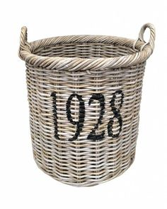 MANDEN VAN RIET OF ROTAN Laundry Basket, Wicker Baskets, Xl, Home Decor, Products, Homemade Home Decor, Interior Design, Home Interiors, Decoration Home