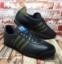 the best attitude 805ae 315ea adidas Mens ITALIA Trainers Black size UK 11 1960s Retro Sneakers US 11.5  EU 46   eBay