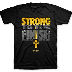 Kerusso Strong To The Finish, Tee, XL, Black - Christian Fashion Gifts