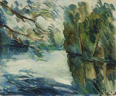 Maurice de Vlaminck (French, 1876-1958), Paysage. Oil on canvas, 38.1 x 46.3 cm.