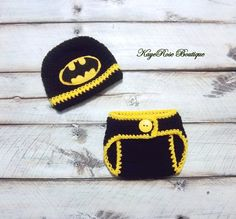 Batman Inspired Newborn to Three Month Old Baby Boy by Sockmonkey7