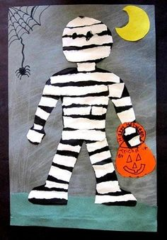 arts and crafts halloween door Halloween Art Projects, Halloween Arts And Crafts, Theme Halloween, Halloween Activities, Halloween Cards, Art Activities, Fall Halloween, Halloween Decorations, Bricolage Halloween