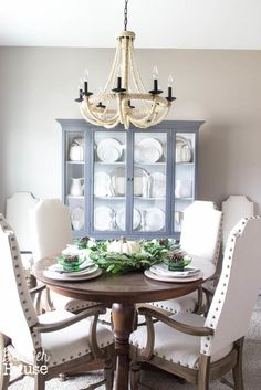 French Provincial China Cabinet Makeover, step by step directions on furniture redo
