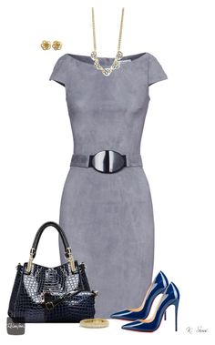 A fashion look from December 2015 featuring gray dress, high heel shoes and satchel handbags. Grey Gardens, Daily Look, David Yurman, Polyvore Fashion, Christian Louboutin, Ice, Female, Shoe Bag, Clothes For Women