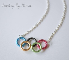 Olympic Rings Games Inspired necklace by JewelryByAimee on Etsy