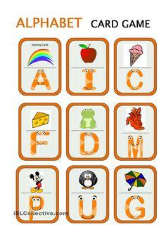 Card Games: Alphabet Game (24 cards)