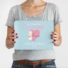 Caja metálica wonder - El tiempo lo cura todo #mrwonderful #blue #quote #tinbox