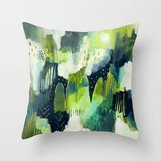 Feeling Green Throw Pillow by Shirin Moarefi Green Throw Pillows, Colourful Cushions, Feelings, Color, Green Cushions, Colour, Colors, Green Pillows