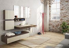 meuble de salle de bain en bois et blanc cassé - FREEDOM 18